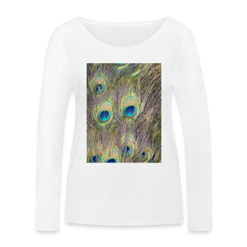 Peacock feathers - Stanley & Stellan naisten pitkähihainen luomupaita