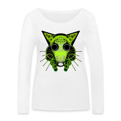 strange head of a rat in punk style - Women's Organic Longsleeve Shirt by Stanley & Stella
