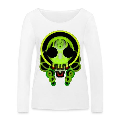 dead skull of loops of green light - Women's Organic Longsleeve Shirt by Stanley & Stella