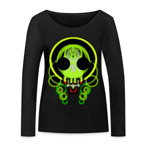 dead skull of loops of green light - Women's Organic Longsleeve Shirt by Stanley & Stella