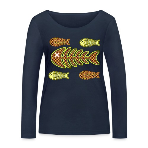 dead fishes - legs in orange and yellow - Women's Organic Longsleeve Shirt by Stanley & Stella