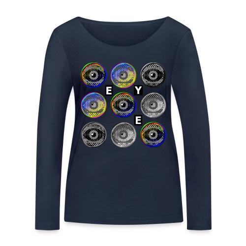 pop art eyes - Women's Organic Longsleeve Shirt by Stanley & Stella