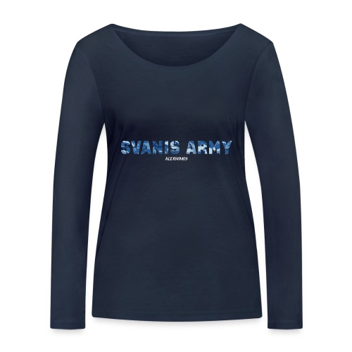 SVANIS ARMY (ALEXSVANIS VIT) - Ekologisk långärmad T-shirt dam från Stanley & Stella