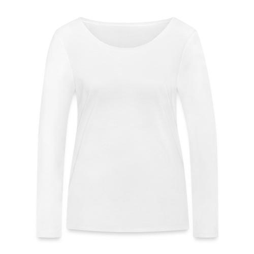 Bläkout -logo valkoinen - Stanley & Stellan naisten pitkähihainen luomupaita