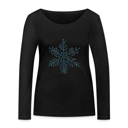 flocon de neige noir - T-shirt manches longues bio Stanley & Stella Femme