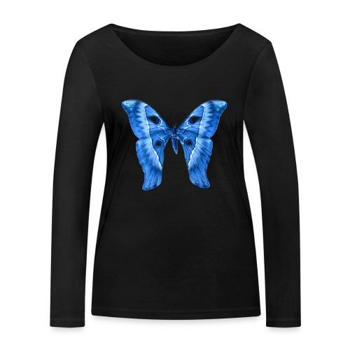 Herkules Falter Blau - Frauen Bio-Langarmshirt von Stanley & Stella