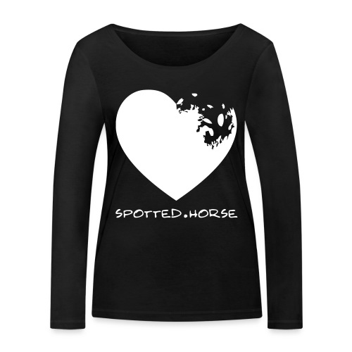 Cuore Appaloosa Spotted.Horse - Maglietta a manica lunga ecologica da donna di Stanley & Stella