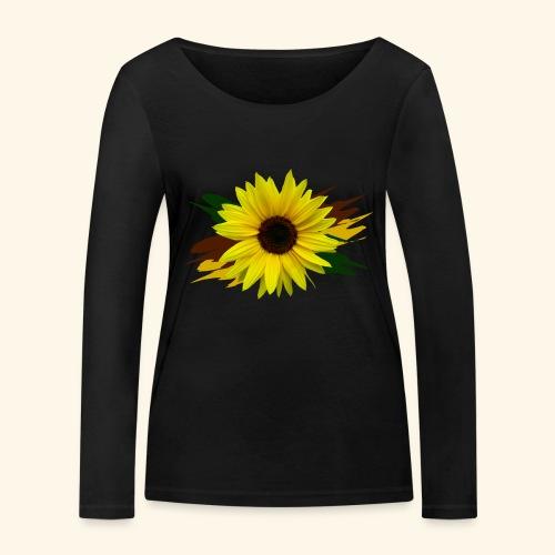 Sonnenblume, Sonnenblumen, Blume, floral, blumig - Frauen Bio-Langarmshirt von Stanley & Stella