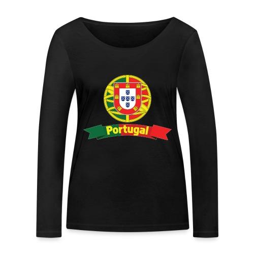 Portugal Campeão Europeu Camisolas de Futebol - Women's Organic Longsleeve Shirt by Stanley & Stella