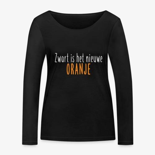 Zwart is het nieuwe oranje - Vrouwen bio shirt met lange mouwen van Stanley & Stella