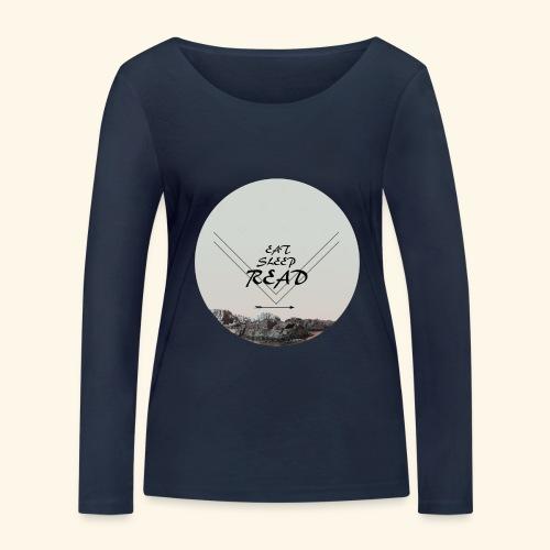 Eat, Sleep, Read - Ekologisk långärmad T-shirt dam från Stanley & Stella