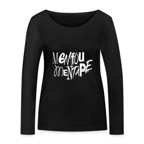MENFOUMENTAPE blanc et noir by Alice Kara - T-shirt manches longues bio Stanley & Stella Femme