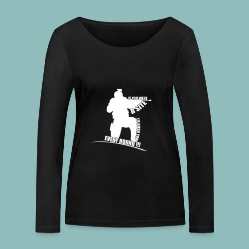 I'd rush you! White Version - Frauen Bio-Langarmshirt von Stanley & Stella