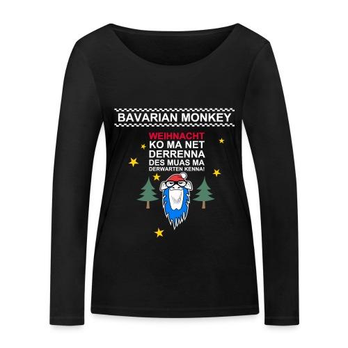 Bavarian Monkey derwarten kenna - Frauen Bio-Langarmshirt von Stanley & Stella