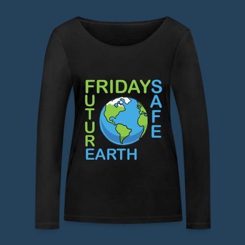 Safe Our Earth - Frauen Bio-Langarmshirt von Stanley & Stella