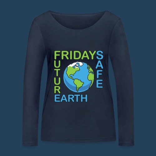 Safe Our Earth - Frauen Bio-Langarmshirt von Stanley & Stella