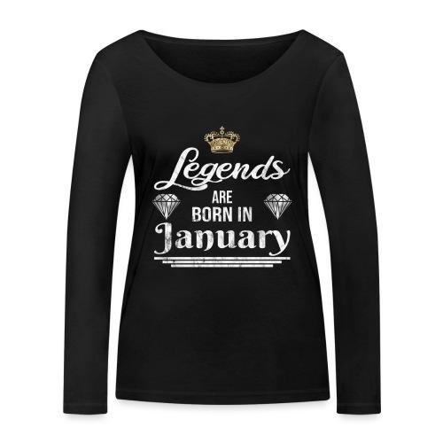 Legends are born in January Geburtstag im Januar - Frauen Bio-Langarmshirt von Stanley & Stella