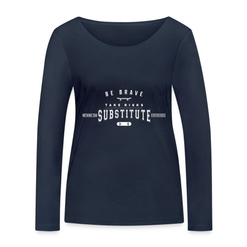 skateboard - Ekologiczna koszulka damska z długim rękawem Stanley & Stella