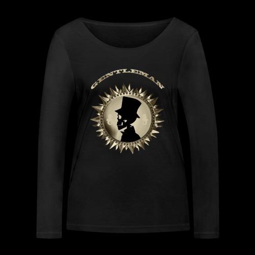 TÊTE DE MORT SILHOUETTE PORTRAIT GENTLEMAN - T-shirt manches longues bio Stanley & Stella Femme