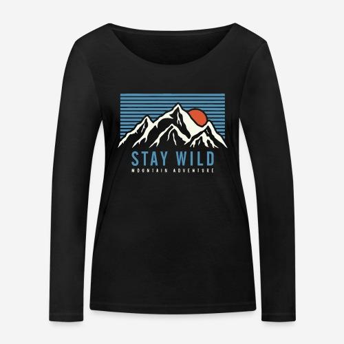 Berg bleiben wild - Frauen Bio-Langarmshirt von Stanley & Stella