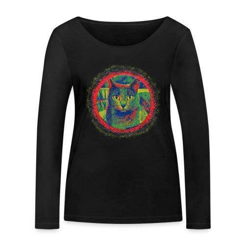 CAT ART AMERA - Frauen Bio-Langarmshirt von Stanley & Stella