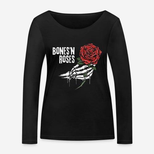 Schädelknochen Rosen - Frauen Bio-Langarmshirt von Stanley & Stella