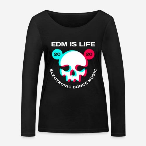 edm electronic dance music - Frauen Bio-Langarmshirt von Stanley & Stella