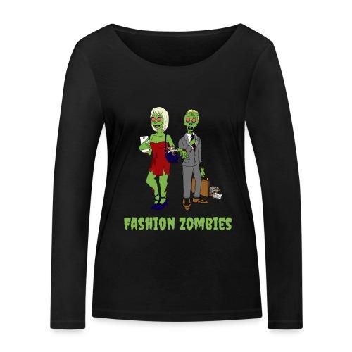 Fashion Zombie - Women's Organic Longsleeve Shirt by Stanley & Stella