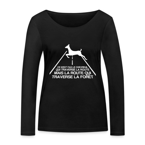 Chevreuil blanc - T-shirt manches longues bio Stanley & Stella Femme