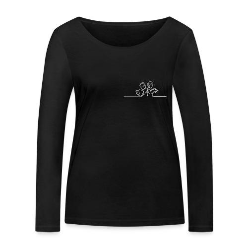 Læsende børn Hvid - Økologisk Stanley & Stella langærmet T-shirt til damer