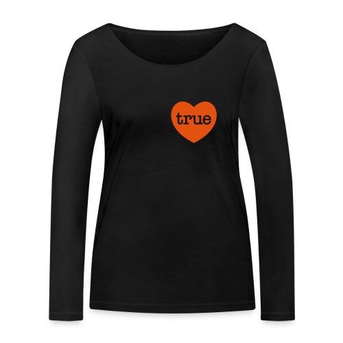 TRUE LOVE Heart - Women's Organic Longsleeve Shirt by Stanley & Stella