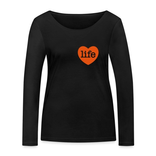 LOVE LIFE heart - Women's Organic Longsleeve Shirt by Stanley & Stella