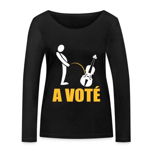 A voté - T-shirt manches longues bio Stanley & Stella Femme