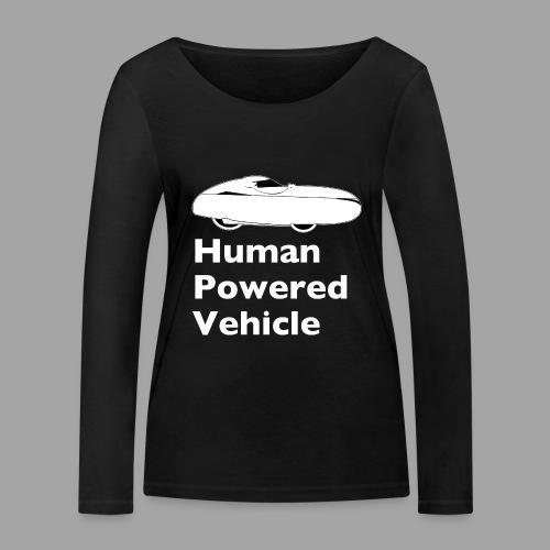 Quest Human Powered Vehicle 2 white - Stanley & Stellan naisten pitkähihainen luomupaita