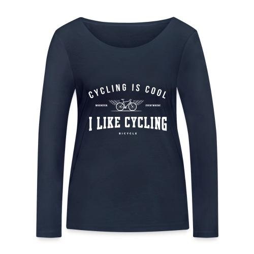 cycling - Ekologiczna koszulka damska z długim rękawem Stanley & Stella