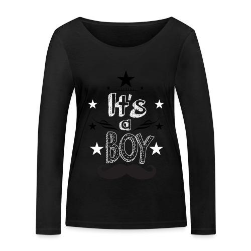 Tshirt Femme Enceinte grossesse tee shirt - T-shirt manches longues bio Stanley & Stella Femme