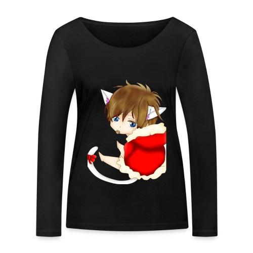 Cute Christmas Fox boy - Frauen Bio-Langarmshirt von Stanley & Stella