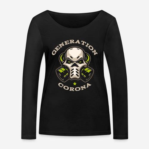corona generation covid - Frauen Bio-Langarmshirt von Stanley & Stella