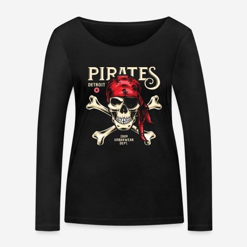 Piraten Urban Wear Sportswear - Frauen Bio-Langarmshirt von Stanley & Stella