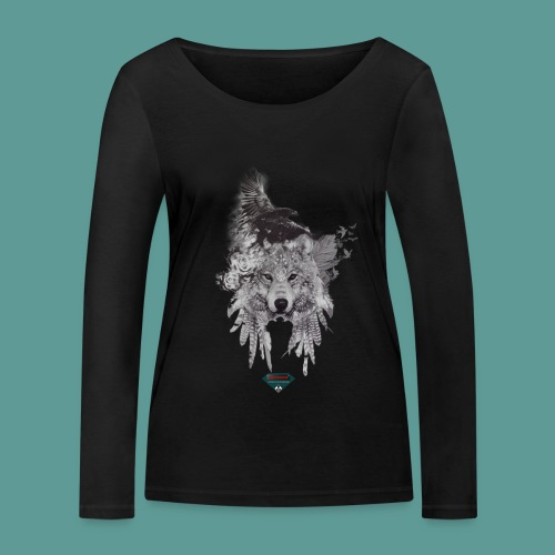 Mutagene Tattoo Pow Wow - T-shirt manches longues bio Stanley & Stella Femme
