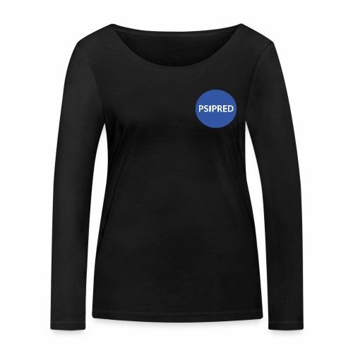 PSIPRED logo blue field - Women's Organic Longsleeve Shirt by Stanley & Stella