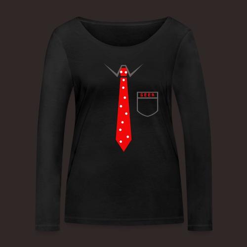 Geek   Schlips Krawatte Wissenschaft Streber - Frauen Bio-Langarmshirt von Stanley & Stella