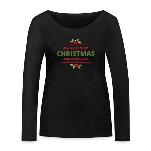 merry christmas, christmas present, christmas tree - Women's Organic Longsleeve Shirt by Stanley & Stella