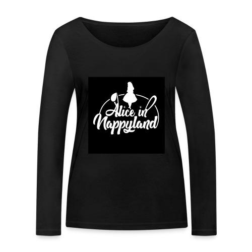 Alice in Nappyland TypographyWhite 1080 - Women's Organic Longsleeve Shirt by Stanley & Stella