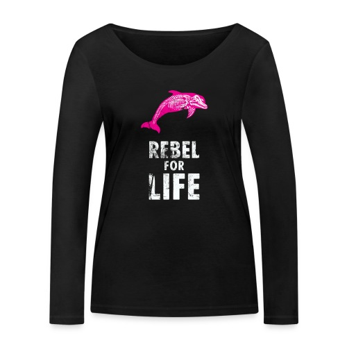 extinction rebellion just rebel - Frauen Bio-Langarmshirt von Stanley & Stella