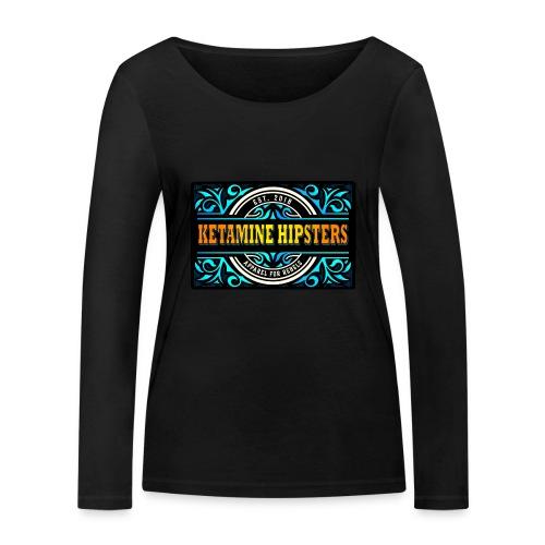 Black Vintage - KETAMINE HIPSTERS Apparel - Women's Organic Longsleeve Shirt by Stanley & Stella