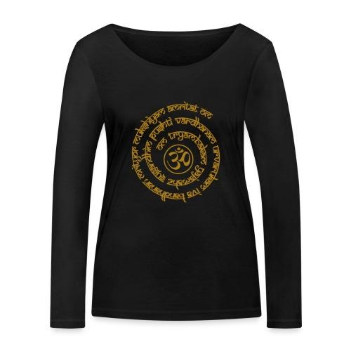 Yoga Mantra Motiv Tryambakam Heilmantra Gold - Frauen Bio-Langarmshirt von Stanley & Stella