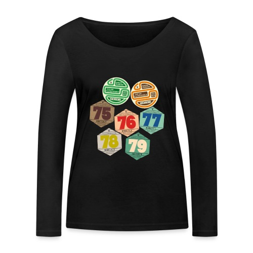 Vignettes automobiles années 70 - T-shirt manches longues bio Stanley & Stella Femme