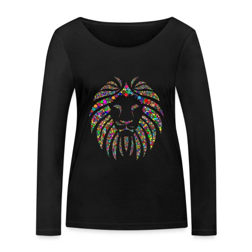 Ausdruck des Löwen - Frauen Bio-Langarmshirt von Stanley & Stella