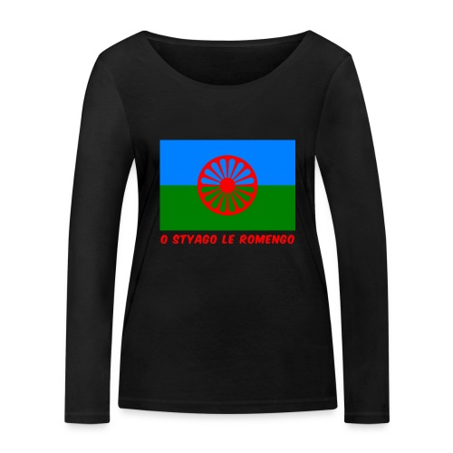 o styago le romengo flag of romani people t-shirt - Maglietta a manica lunga ecologica da donna di Stanley & Stella